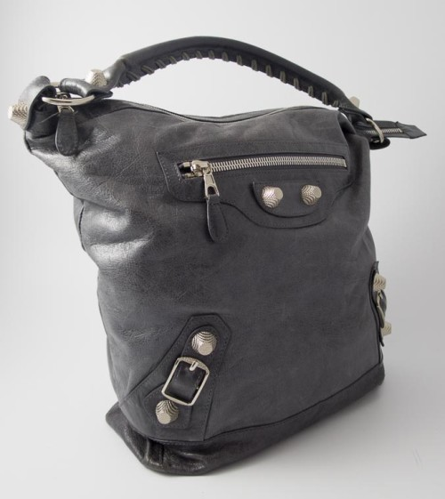 8c59bd3c0f99 Authentic Preloved Balenciaga Giant Day Hobo in Charcoal Grey with Silver  Hardware