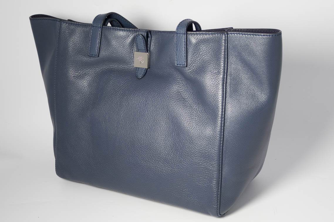 9b5ae62fc4 ... coupon for authentic preloved mulberry tessie tote in regal blue navy  with silver nickel hardware e8087