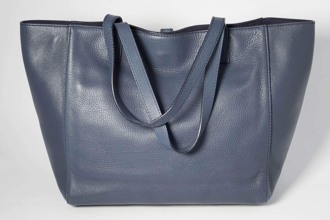 da76912409 ... spain authentic preloved mulberry tessie tote in regal blue navy with silver  nickel hardware the finer ...