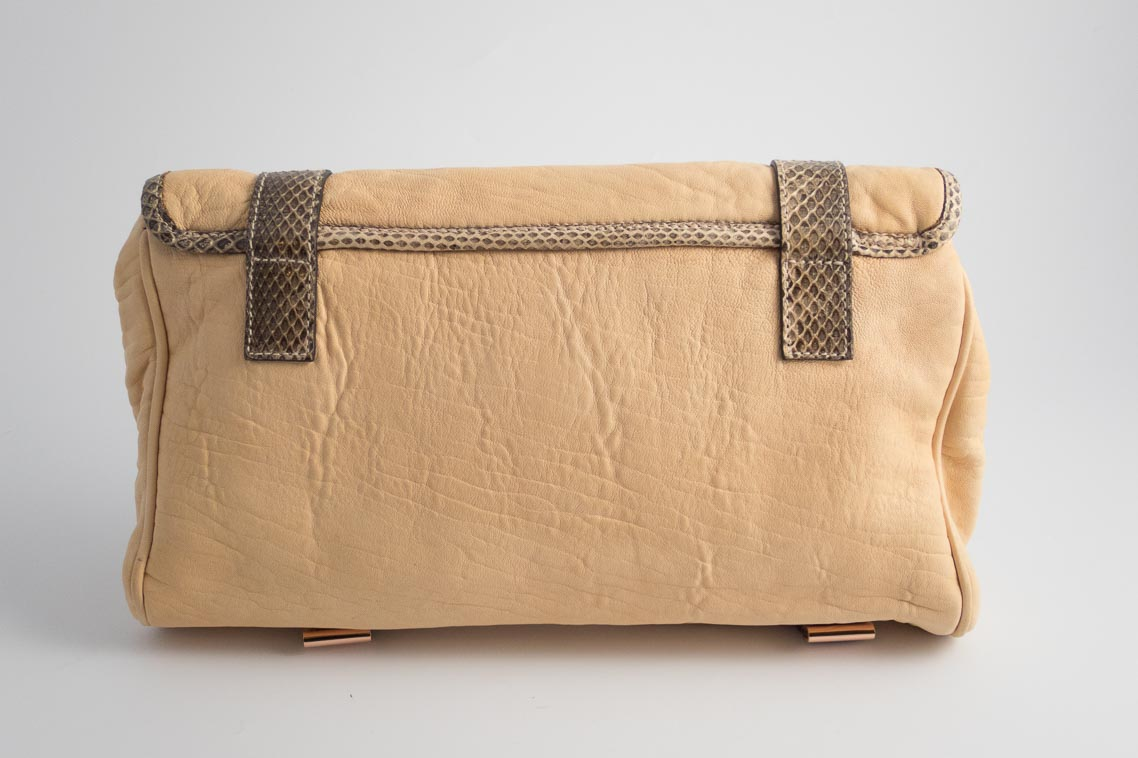 177c9e66b21 ... inexpensive authentic preloved mulberry postmans lock alexa style clutch  bag in nude plonge lambskin with grey