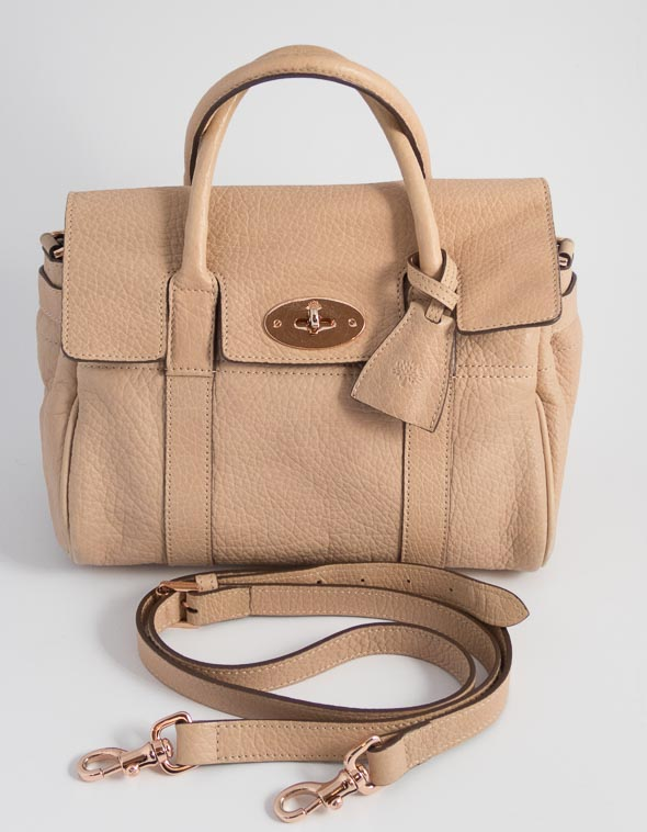 Authentic Preloved Mulberry SBS Small Bayswater Satchel in Nude Beige  Plonge Lambskin with Rose Gold Hardware 019c00f4c3d17