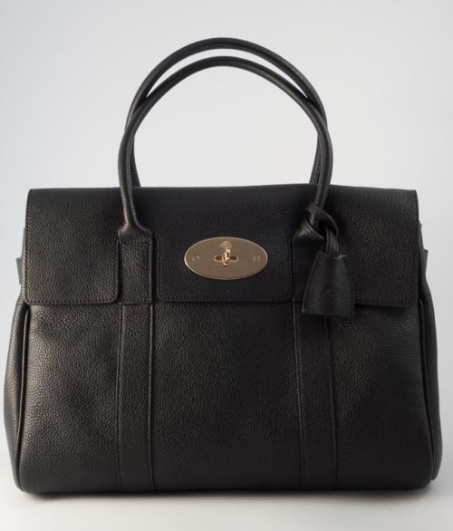 fcf8e3033e8 Authentic Brand New Mulberry Bayswater in Black Small Classic Grain with  Soft Gold Hardware · Beautiful Bags ...