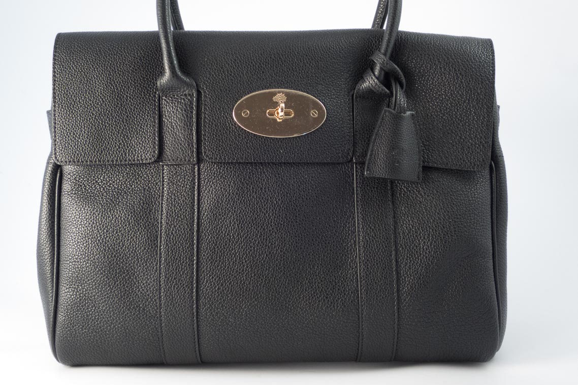 358fcb06c5 ... spain authentic brand new mulberry bayswater in black small classic  grain with soft gold hardware the