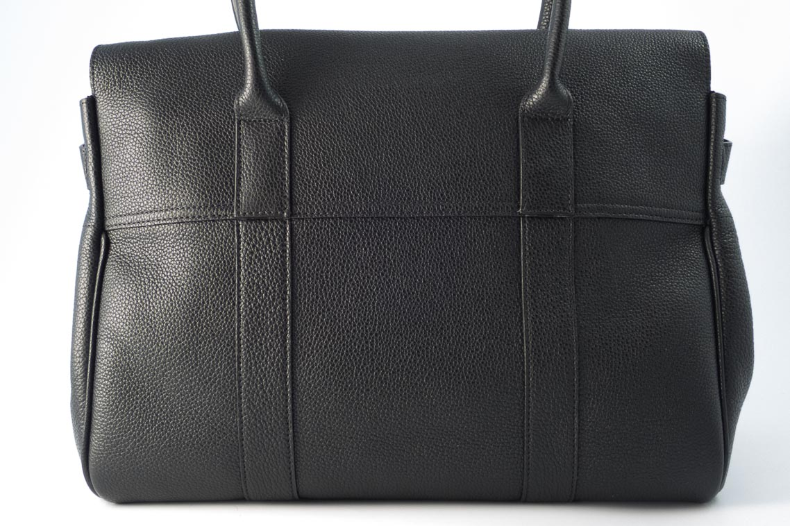 32ff44f40c15 Authentic Brand New Mulberry Bayswater in Black Small Classic Grain with  Soft Gold Hardware