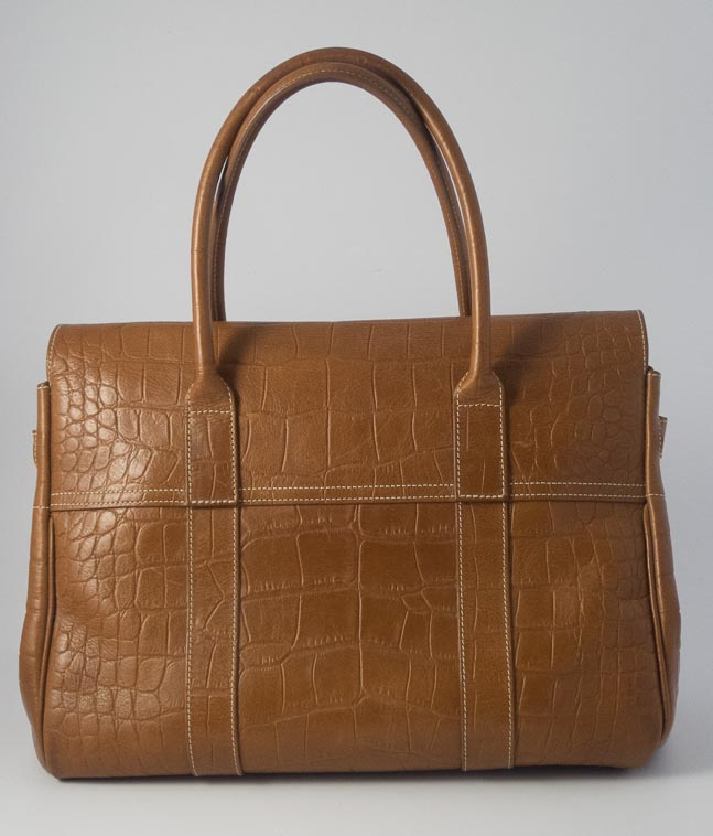 Authentic Preloved Mulberry Bayswater in Oak PVT Croc Leather with Brass  Hardware  342d7d5b34773