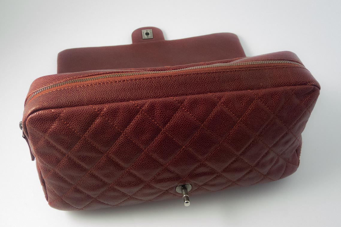 344ab9250944 Authentic Preloved Chanel Jumbo Shiva Easy Flap Bag in Burgundy Glazed  Caviar with Ruthenium Silver Hardware | The Finer Things Aberdeen
