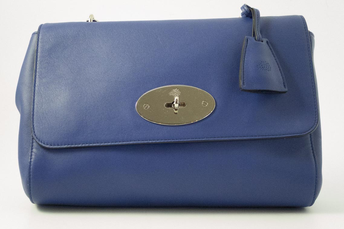 477f96ff99 ... shopping authentic preloved mulberry medium lily in indigo blue nappa  with silver nickel hardware the finer ...