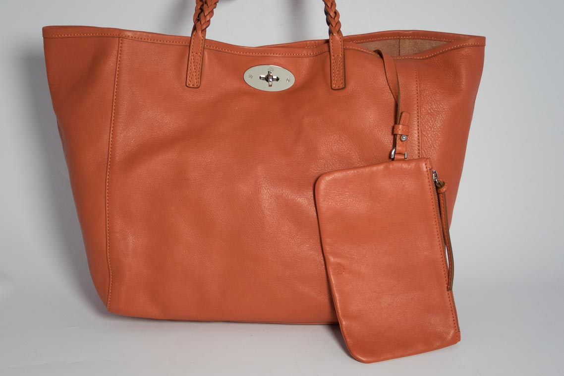 ... discount code for authentic preloved mulberry dorset tote bag and pouch  in burnt peach orange with ce43d3974fb3e