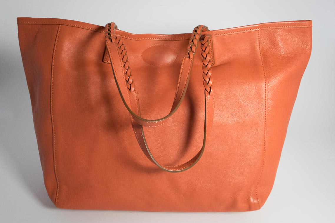 4844b5b59213 Authentic Preloved Mulberry Dorset Tote Bag and Pouch in Burnt Peach Orange  with Silver Hardware
