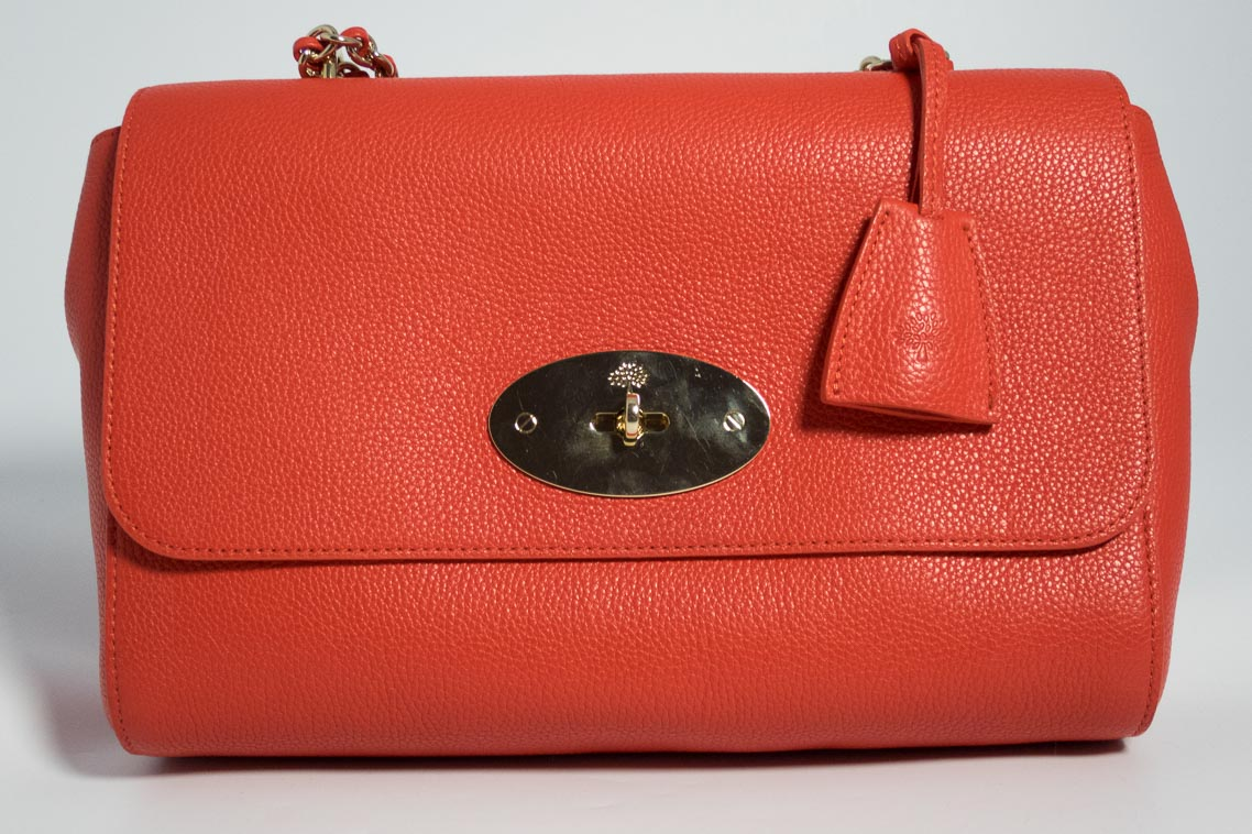 f1c7b2274a ... sweden authentic preloved mulberry medium lily in red fiery spritz with  soft gold hardware the finer