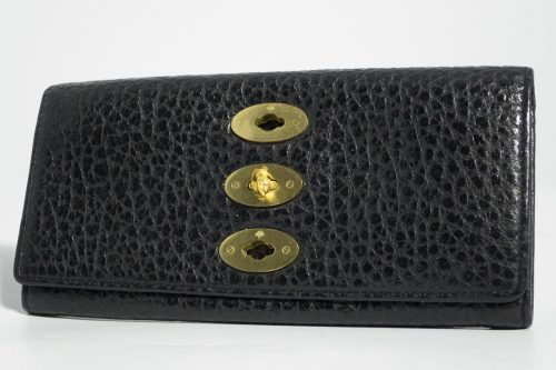 ... discount code for authentic preloved mulberry bryn continental wallet  purse in black shiny grain leather with ... 7adfd8c1f6f48