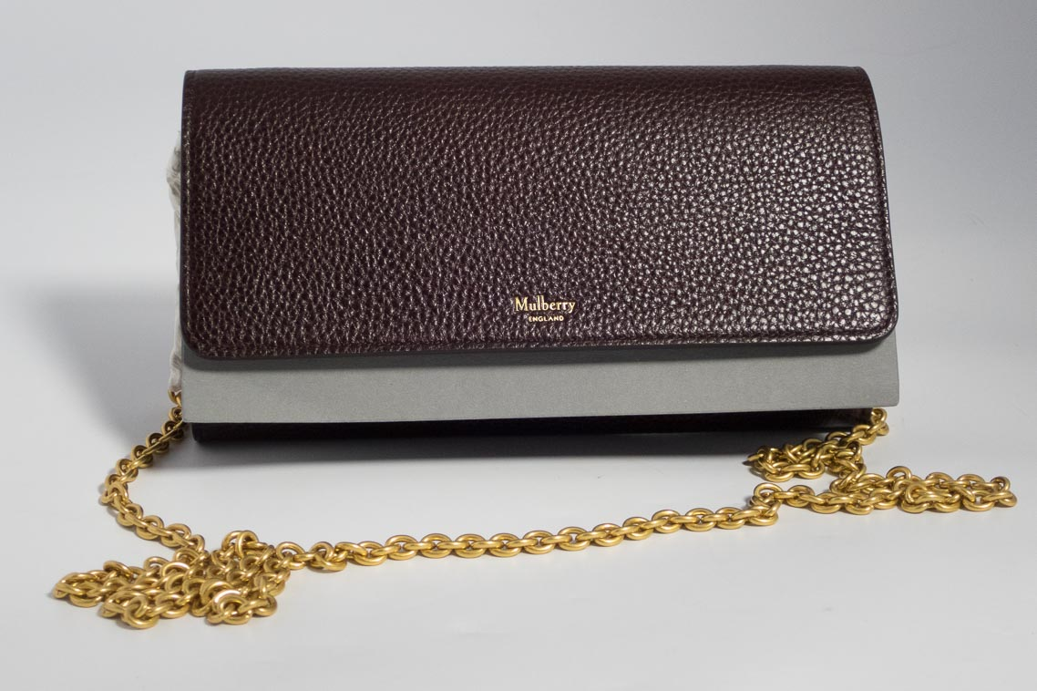 ... shop authentic brand new mulberry continental clutch bag wallet on  chain in oxblood with gold hardware 99d97e70d158f