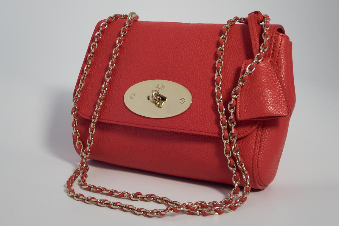 d4e15ba7f4 Previous  Next. 1  2. Previous  Next. Authentic Preloved Mulberry Lily in  Hibiscus Red Classic Small Grain Leather ...