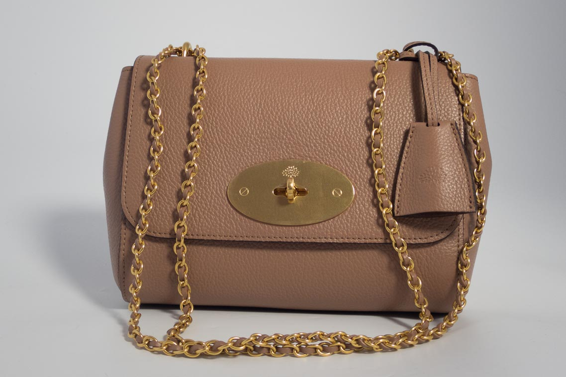 5f0a326501 ... low cost authentic brand new mulberry lily in dark blush pink small  classic grain leather with