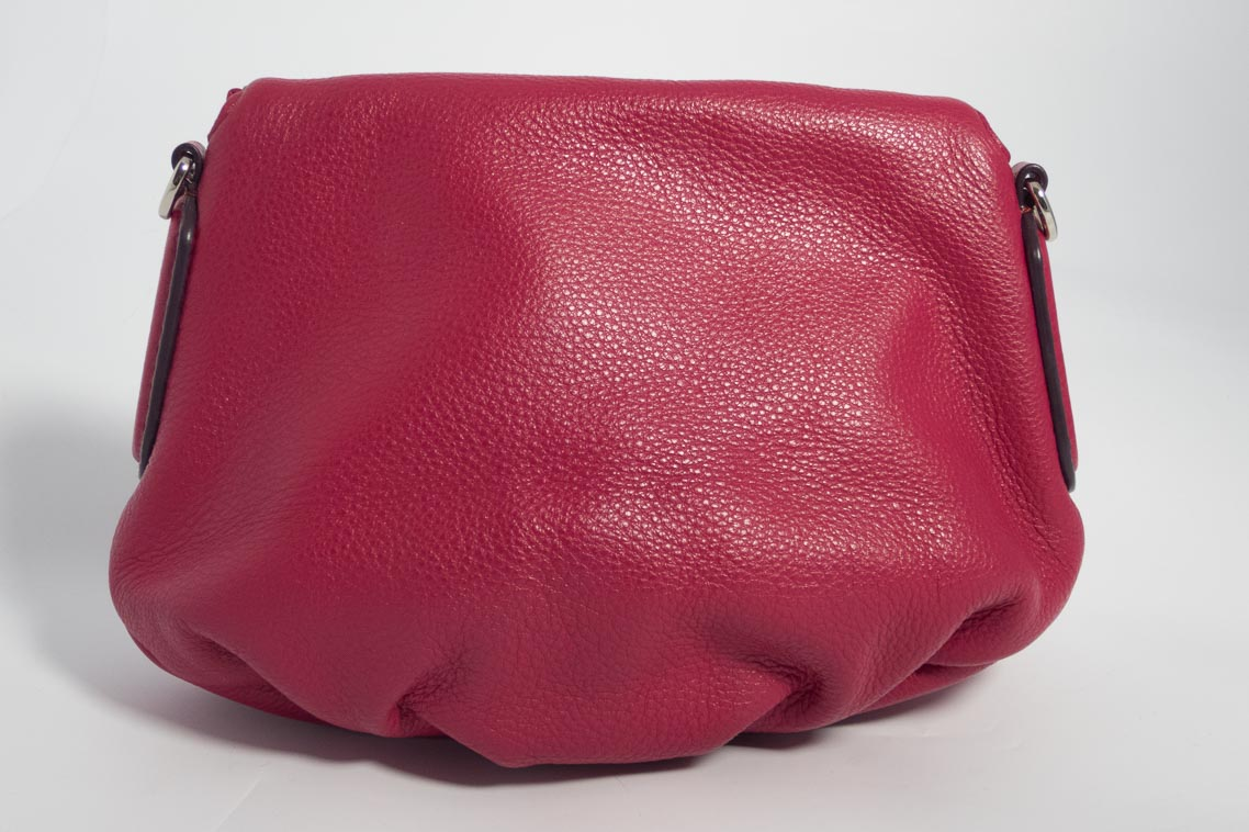 6f7e622d19 Authentic Preloved Marc Jacobs Small Natasha Cross Body Messenger bag in  Raspberry Pink with Silver Hardware | The Finer Things Aberdeen