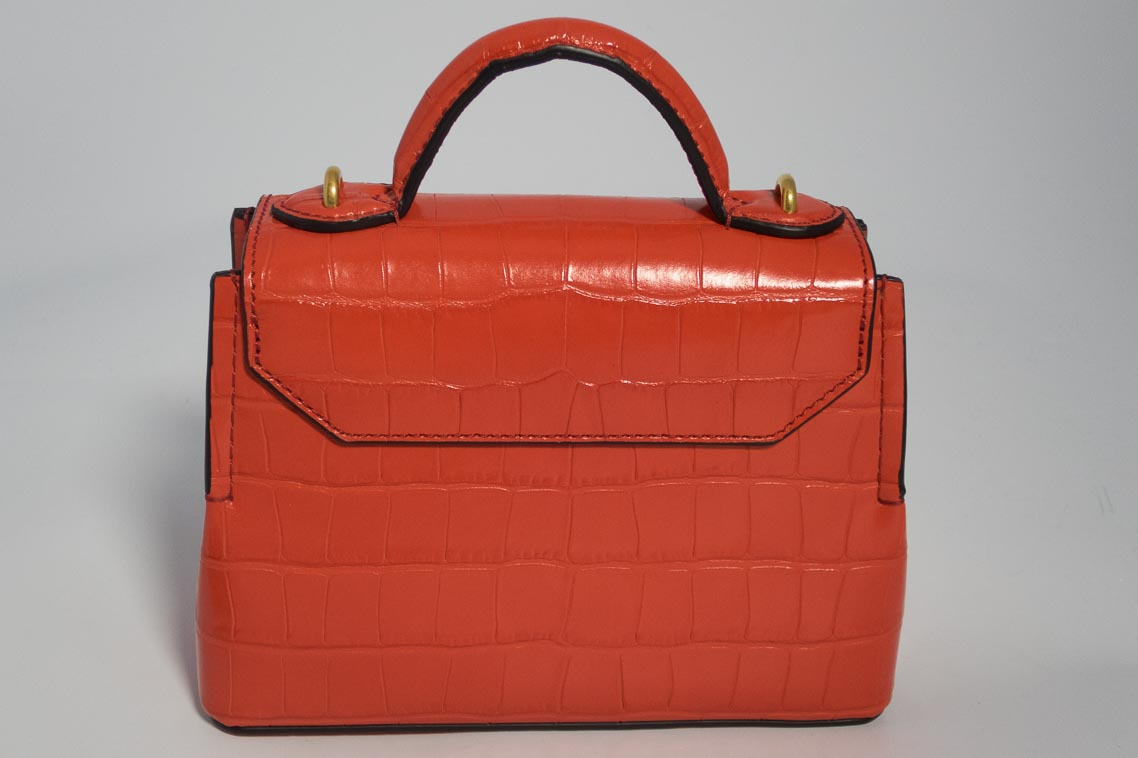 8a66462c3142 Authentic Brand New Mulberry Micro Seaton in Hibiscus Red Croc Print with  Gold Hardware
