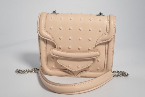 d9f03db00c79 Authentic Alexander McQueen Mini Heroine Satchel in Powder Pink studded  Leather with silver hardware · Beautiful Bags