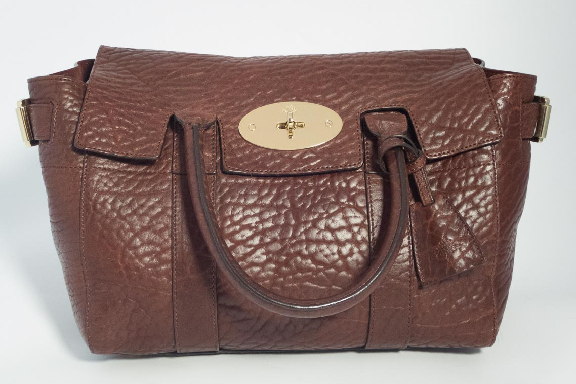 Authentic Preloved Mulberry Small Bayswater Buckle in Oxblood Shrunken Calf  Leather with Soft Gold Hardware  a51f8a3fbf074