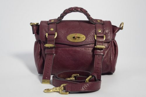 2f155199db25 Authentic Preloved Mulberry Mini Alexa in Conker Burgundy Soft Buffalo with  Brass Hardware