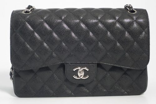875a89db8cfb2d Authentic Preloved but As New Chanel Jumbo Classic Timeless Double Flap Bag  in Black Quilted Caviar with Silver Hardware 2016