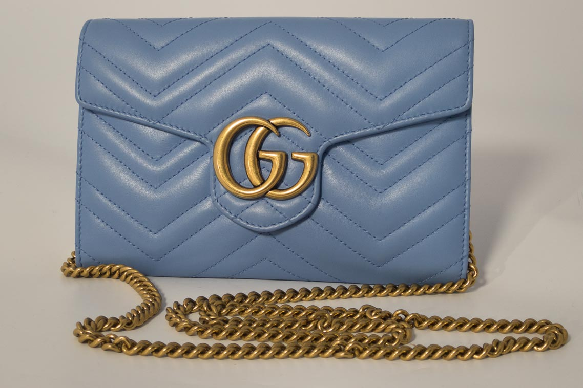 ec948d90122c17 Previous; Next. 1; 2; 3. Previous; Next. Authentic Preloved Gucci Marmont  Chevron Chain Wallet ...