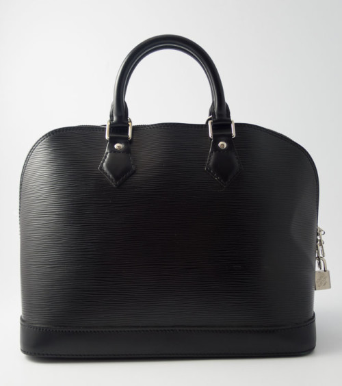 13c1defe541 Authentic Preloved Louis Vuitton Alma PM in Black Noir Epi Leather with  Silver Hardware