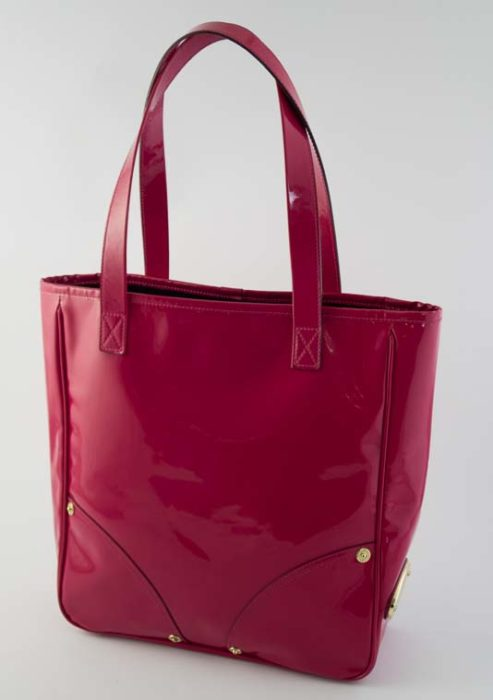 fab7f540f66 Authentic Preloved Mulberry Small Shopper Tote in Pink Vinyl with Soft Gold  Hardware