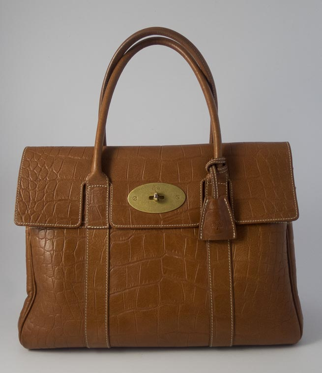 c495300763 Authentic Preloved Mulberry Bayswater in Oak PVT Croc Leather with Brass  Hardware