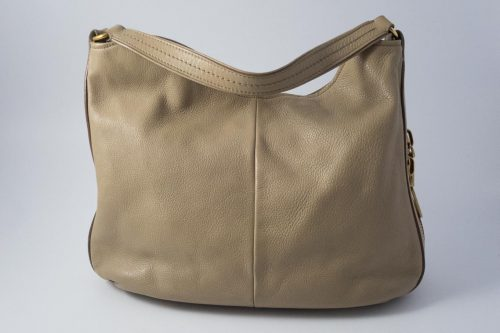 ab8d637da941 Authentic Preloved Yves Saint Laurent Taurillon Zip Hobo in Taupe with aged  gold hardware