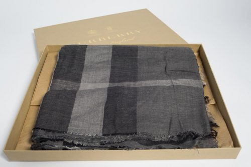 53eccc2354b5 Authentic Preloved Burberry Lightweight Check Scarf in Grey