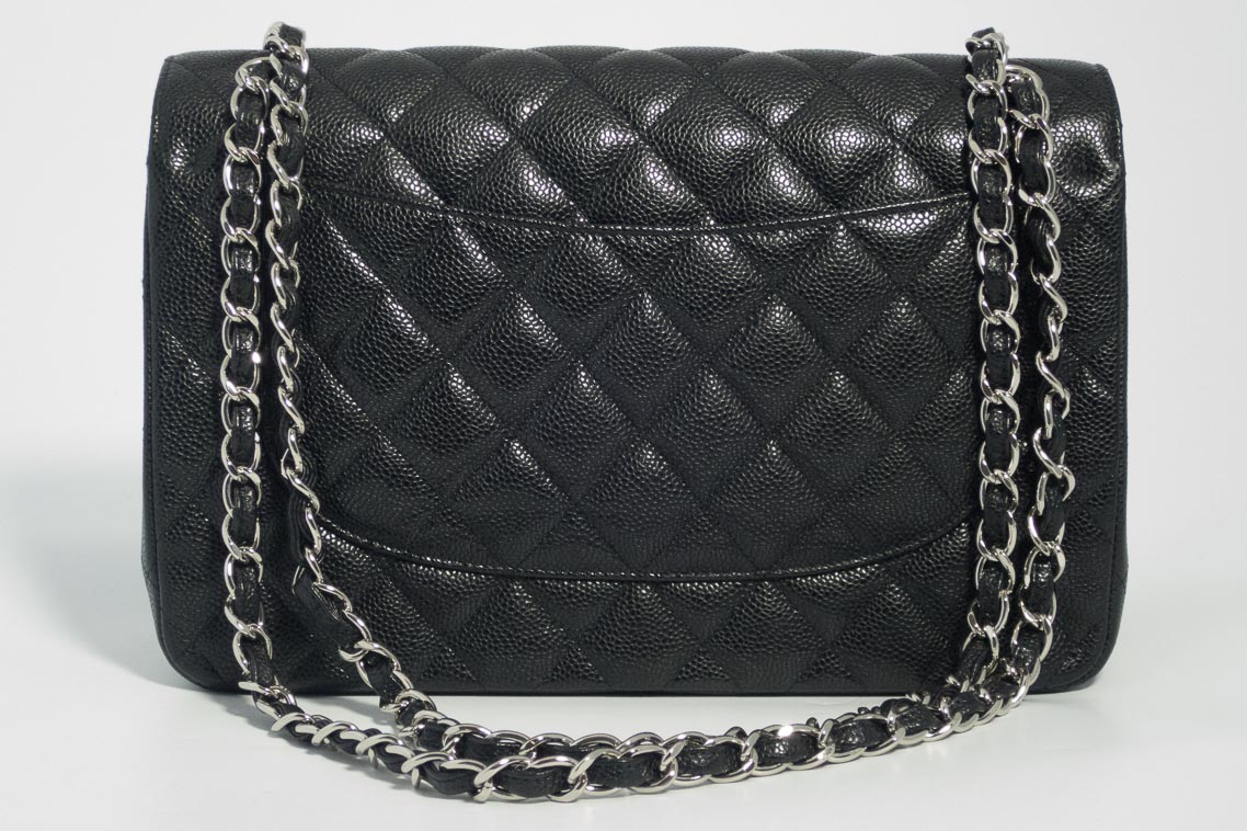 13e298295eb9 ... Chanel Jumbo Classic Timeless Double Flap Bag in Black Quilted Caviar  with Silver Hardware 2016 ‹Return to Previous Page. Bug Fix. Previous  Next