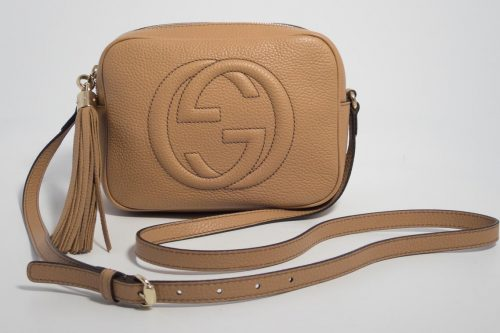 0b74b4d62b03 Authentic Brand New Gucci Soho Disco bag in Beige with Gold Hardware