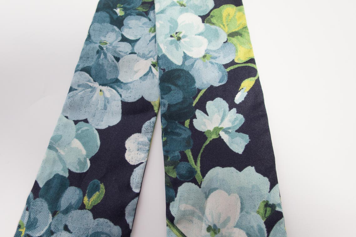 Authentic Brand New Gucci Blooms Twilly In Blue Mix The